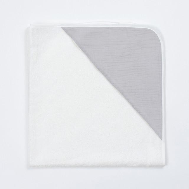 Bim Bla - Bambusowy Ręcznik z Muślinowym Kapturkiem Szary