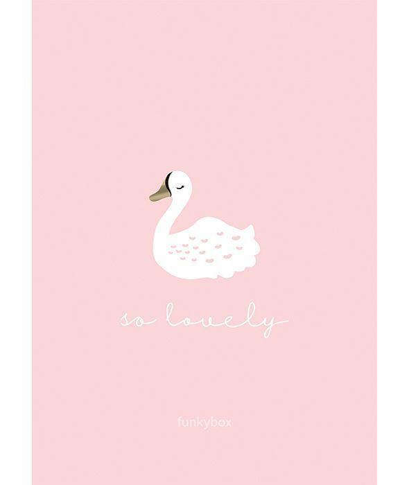 Funkybox - Plakat Dziecięcy Pink Swan 30x42cm