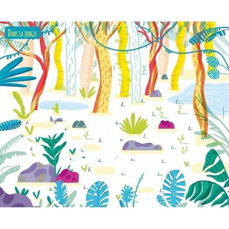 Auzou - Naklejki do Samodzielnego Kolorowania Wesołe Zwierzątka 3+