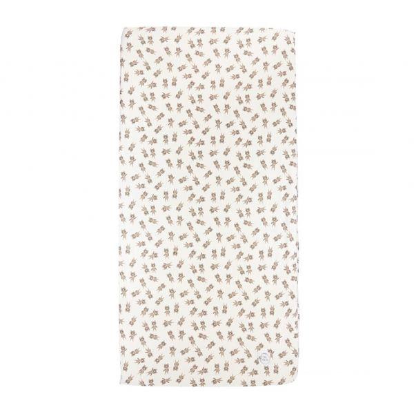 Maki Mon Ami - Bawełniane Prześcieradło z Gumką 70x140 cm Miś Dawid Misie