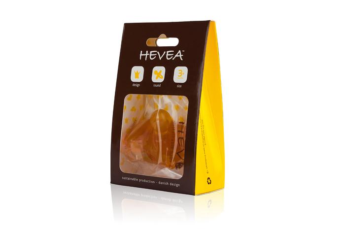 Hevea - Smoczek Okrągły Korony 3-36mies