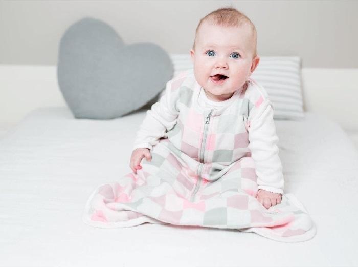 Lulujo - Luxe Śpiworek Muślinowy Pink 0-6 miesięcy