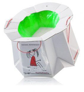 Tron - Jednorazowy Biodegradowalny Nocnik-idealny w Podróży