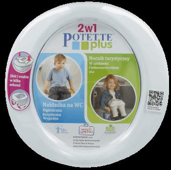 Potette Plus - Nocnik Turystyczny 2 w 1 Biały