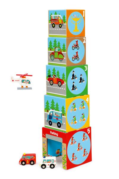 Scratch - Piramida Edukacyjna Pojazdy 5 Elementów 1+