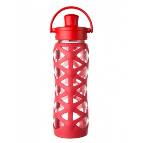 Lifefactory - Butelka Szklana Actice Cap 650 ml Charged Red