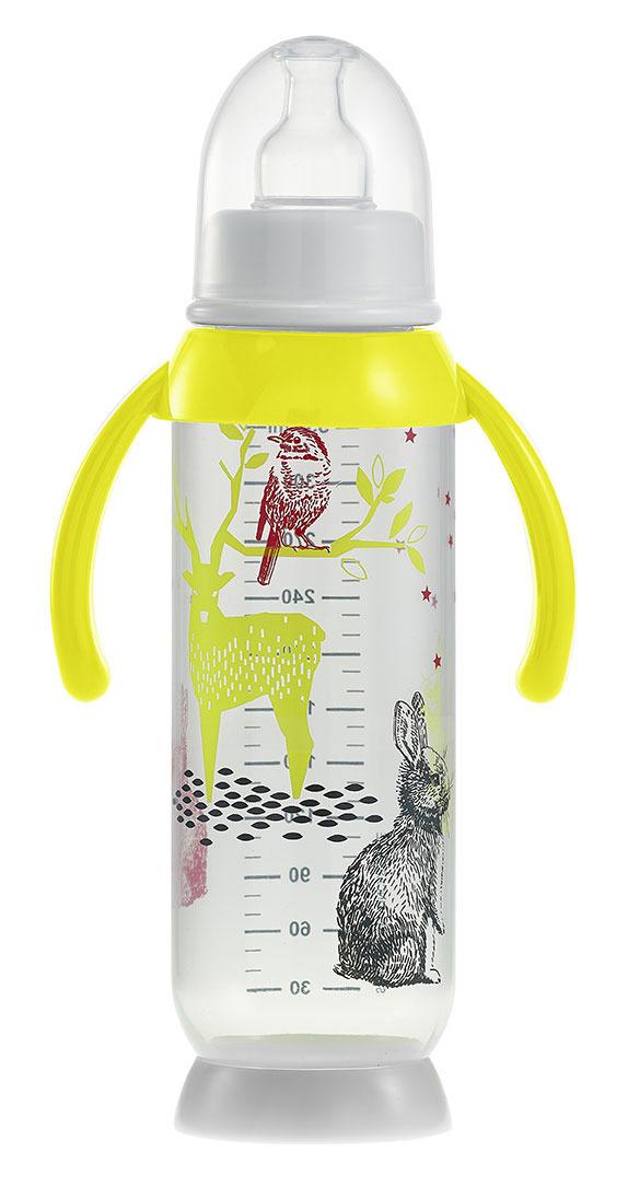 Beaba - Butelka Antykolkowa z Uchwytem 330ml Bunny Yellow