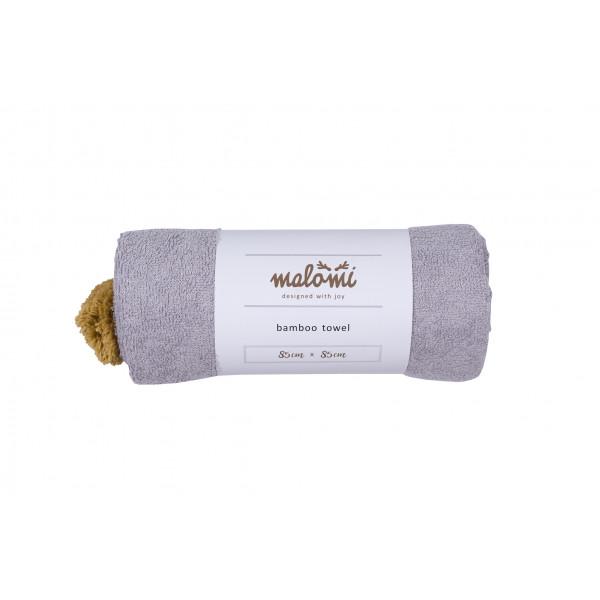 Malomi Kids - Ręcznik Bamboo Grey S