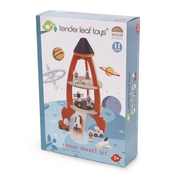 Tender Leaf Toys - Drewniana Rakieta Kosmiczna 3+