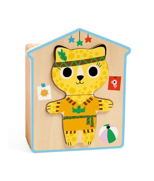 Djeco - Drewniane Puzzle Dressup