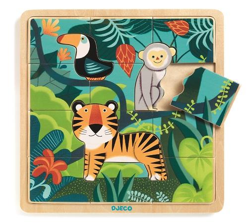 Djeco - Edukacyjne Puzzle Drewniane Dżungla