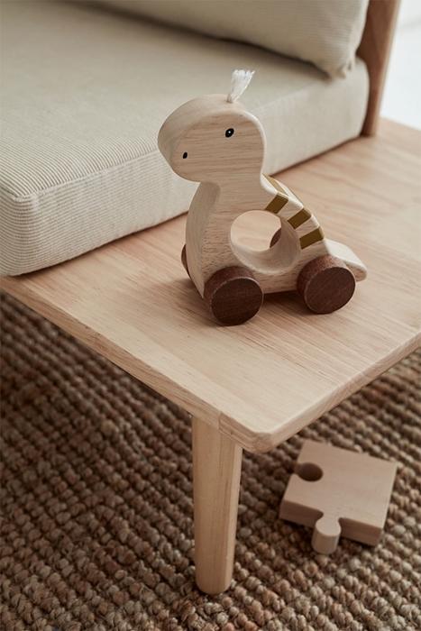 Kids Concept - Zabawka na Kółkach Dino Natural NEO 1+