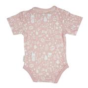 Little Dutch - Body z krótkim rękawkiem Adventure Pink 62/68cm