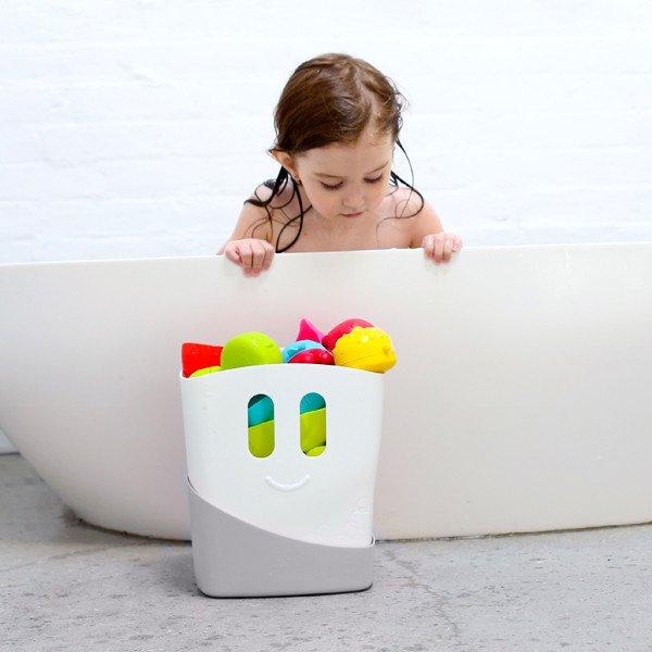 Ubbi - Pojemnik 2 Częściowy na Zabawki Kąpielowe Szary