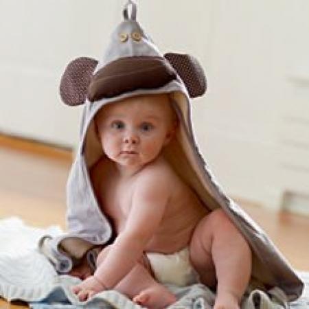 Duży Ręcznik z Kapturem Małpka 3 Sprouts