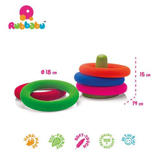 Rubbabu - Zestaw do Gry w Obręcze Sensoryczny