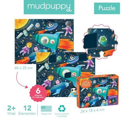 Mudpuppy - Puzzle z Okienkami Kosmos 12 elementów 2+