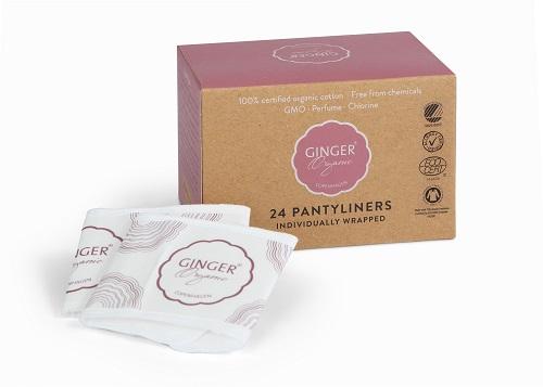 Ginger Organic - Wkładki Higieniczne 24 szt.