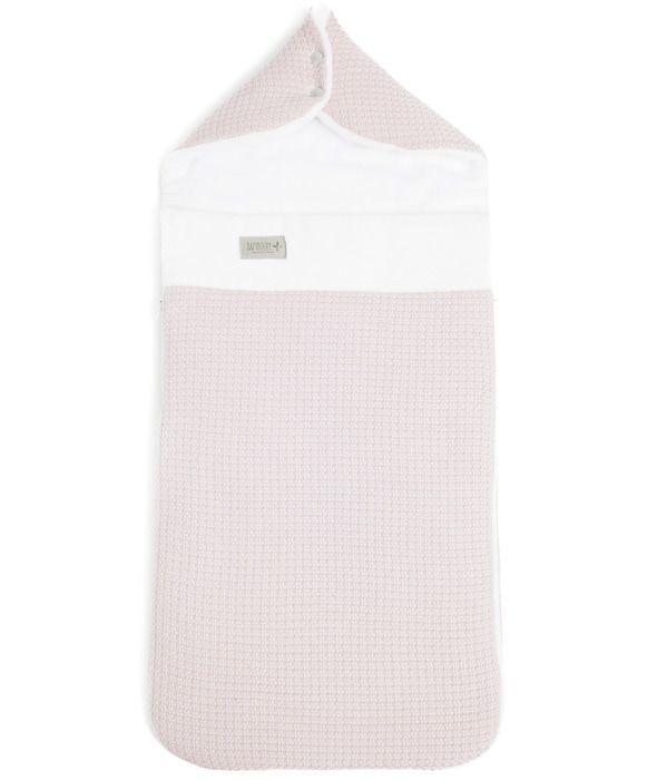 Bamboom - Śpiworek Ocieplany do Wózka/Fotelika Bambus Organiczny Różowy 45x85cm