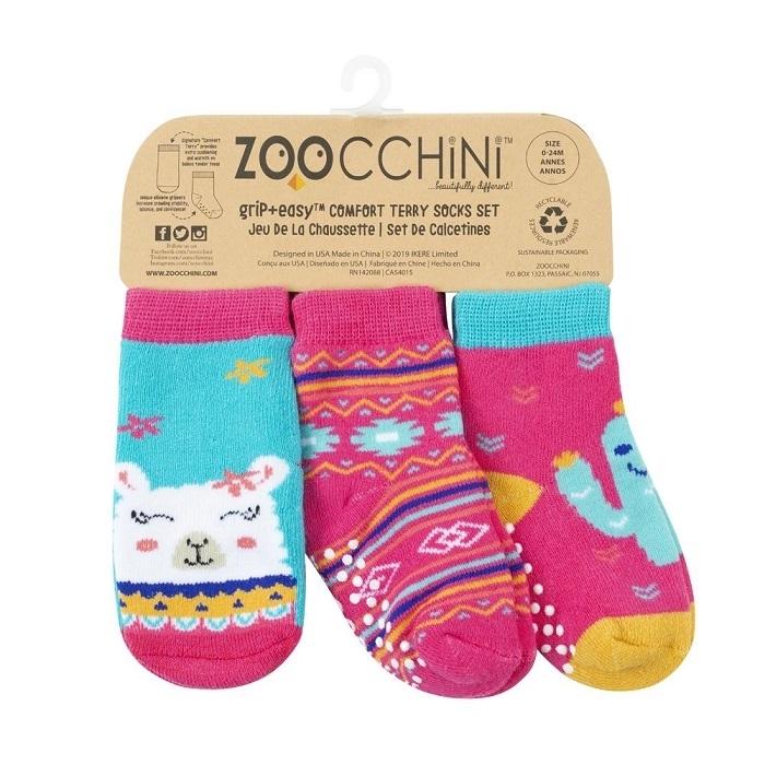 Zoocchini - Skarpetki 3 pary Lama 0-24m