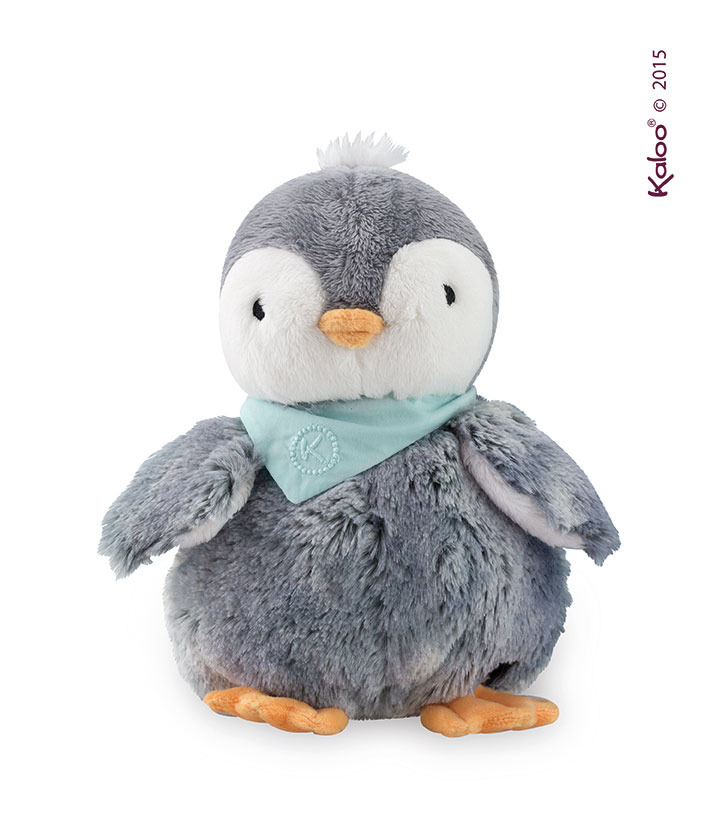 Kaloo - Przytulanka Pingwin Szary w Pudełku Kolekcja Les Amis 19cm 0m+