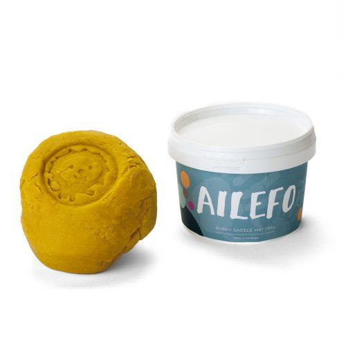 Ailefo - Organiczna Ciastolina Duże Opakowanie Żółty 540g
