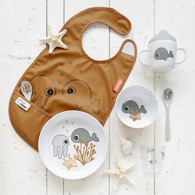 Done By Deer - Yummy Sea Miska Dla Dziecka Mustard/Grey