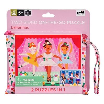 Petit Collage - Puzzle Dwustronne w Torebce Ballerina 5+