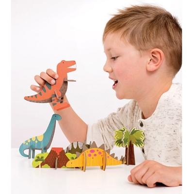 Petit Collage - Puzzle Przestrzenne Dinozaur