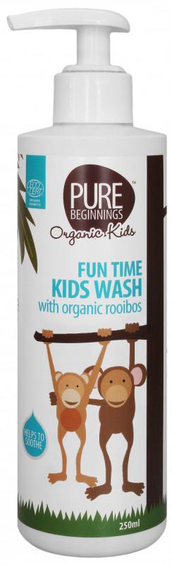 Pure Beginnings Organic Kids - Bąbelkowy Żel do Mycia Ciała z Organicznym Rooibosem 250ml