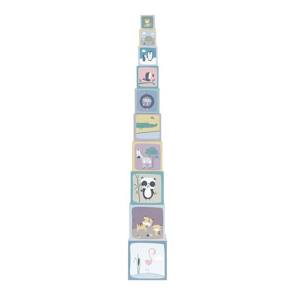 Little Dutch - Kartonowa Wieża 10 Elementów ZOO 18m+