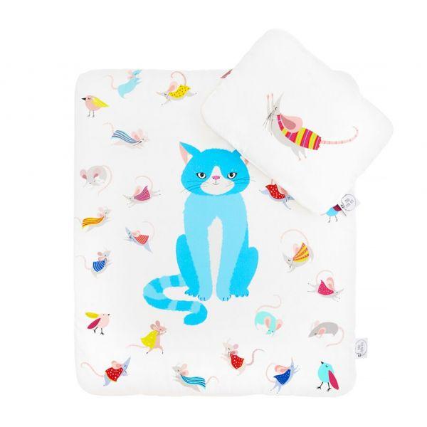 Maki Mon Ami - Satynowa Pościel z Wypełnieniem S Kot Stefan