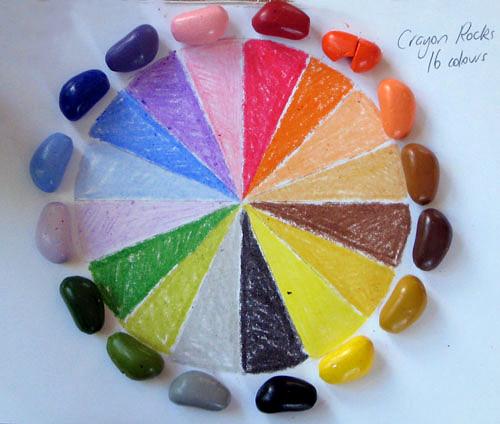 Crayon Rocks - Kredki 8  Kolorów w Bawełnianym Woreczku