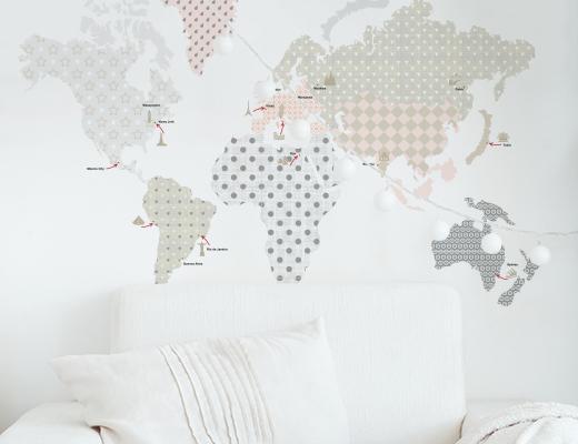 Dekornik - Naklejki Ścienne Mapa 1 120x70cm