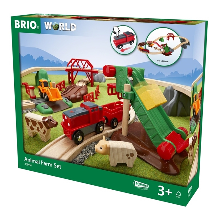 BRIO - World Kolejka Drewniana Farma 30el.