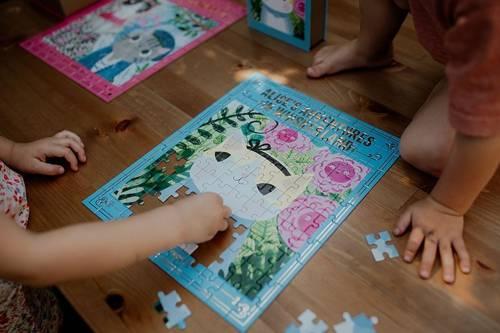 """Mudpuppy - Puzzle - Książka """"Alicja w Krainie Wąsów"""" Kotopowieści 100 elementów 6+"""