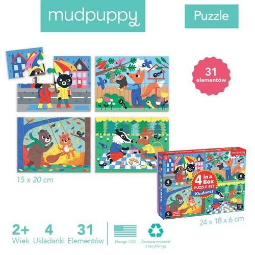 """Mudpuppy - Puzzle Progresywne """"Życzliwość"""" 4, 6, 9 i 12 elementów 2+"""