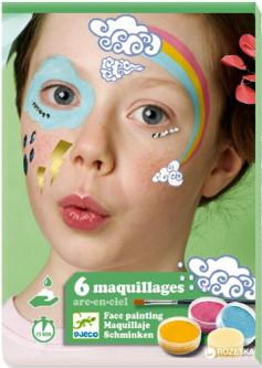 Djeco - Farby do Malowania Twarzy Rainboow