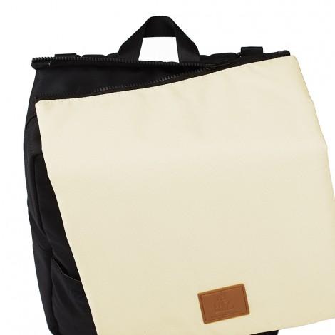 My Bag's - Plecak Reflap dla Mam Eco Black/Cream