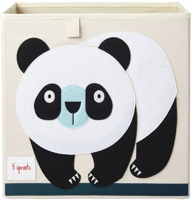3 Sprouts - Pudełko na Zabawki Panda Black