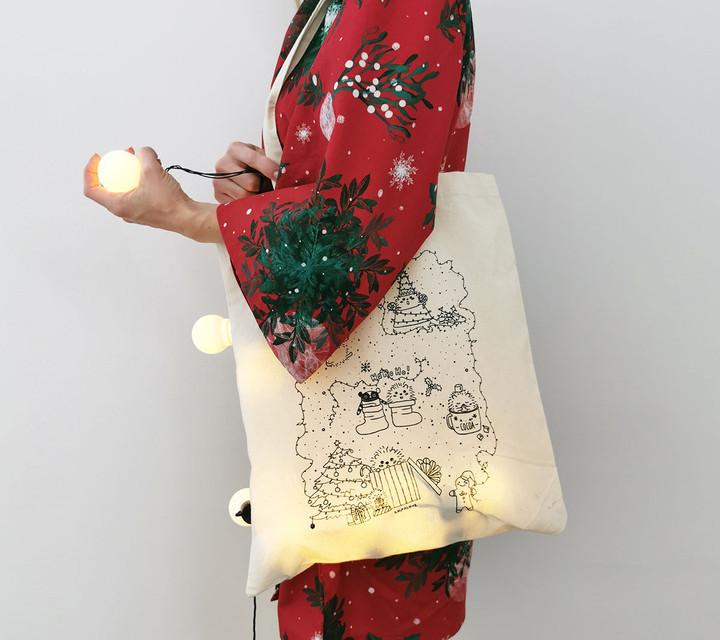 Lullalove - Płócienna Torba - Święta