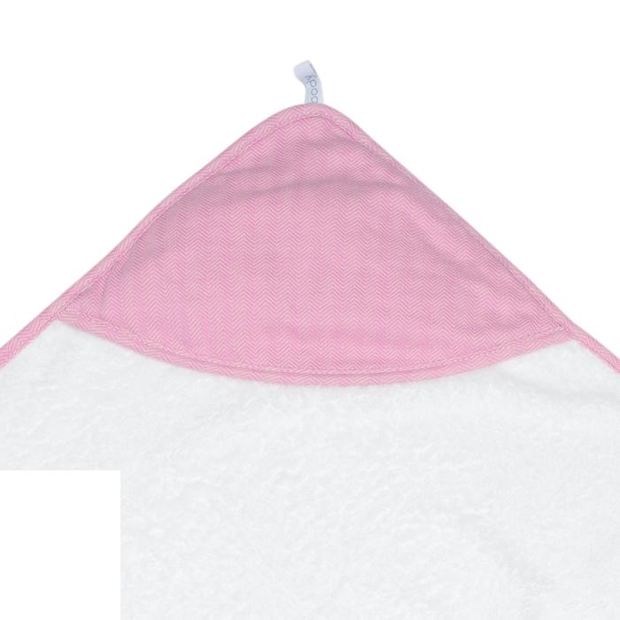 Juddlies- Ręcznik Bambusowy  z Kapturem Pink 76x76cm