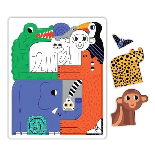 Mudpuppy - Puzzle Układanka Wszyscy Razem Dżungla 10 elementów 3+