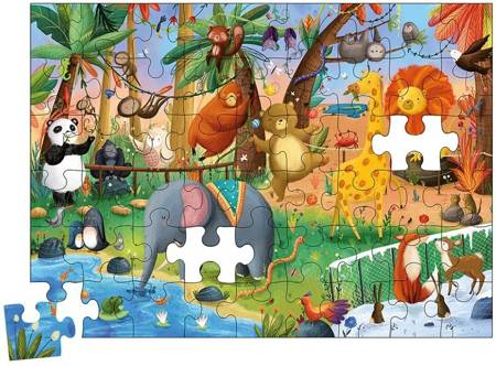 Auzou - Puzzle Magiczne Zoo 54 el. 3+