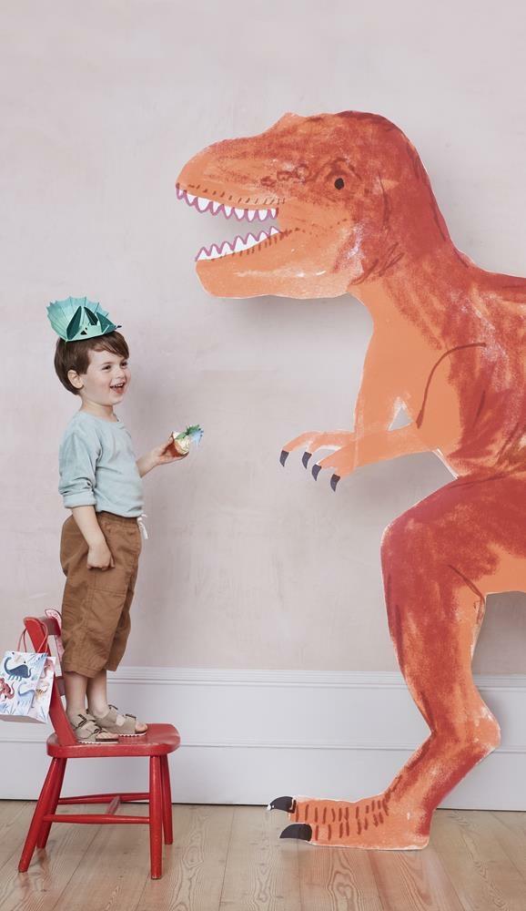 Meri Meri - Czapeczki Urodzinowe Królestwo Dinozaurów