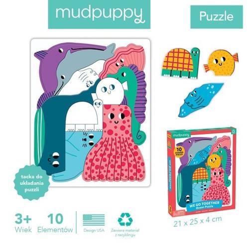 Mudpuppy - Puzzle Układanka Wszyscy Razem Ocean 10 elementów 3+