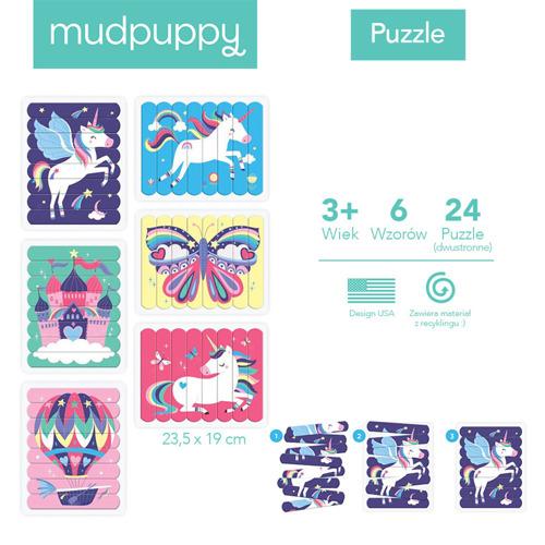 Mudpuppy - Puzzle Patyczki Magiczne Jednorożce 3+