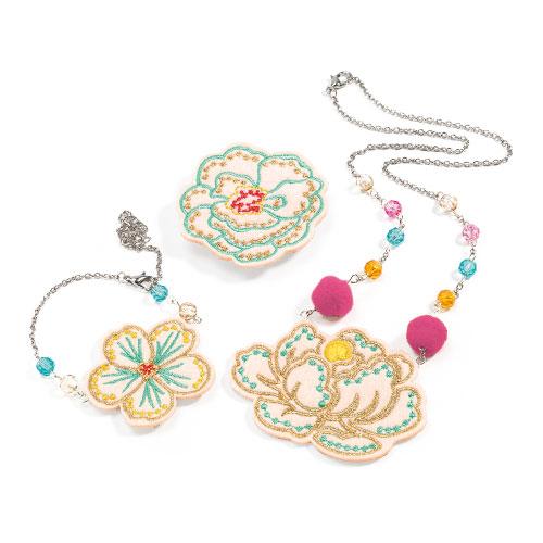 Djeco - Wyszywana Biżuteria Flowers
