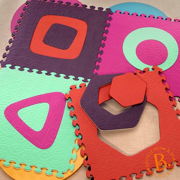 B.Toys - Puzzle Piankowe Dwustronne z Podwójnie Wyjmowanymi Środkami o Ciekawych Kształtach Malina