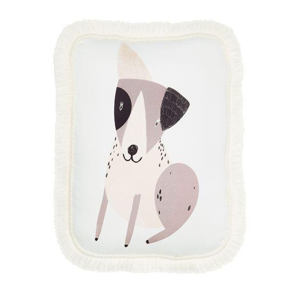 Maki Mon Ami - Ozdobna Poduszka z Frędzlami Terrier Happy